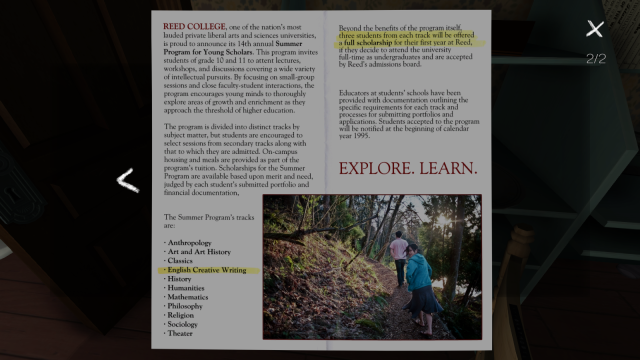 Screenshot of text-heavy pamphlet